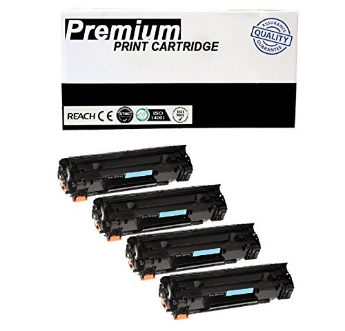 JSL 4PK CB435A Black Toner Cartridges For HP 35A Laser Jet P1004 P1005 P1006 P1009