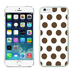 Polka Dot White and Dark Brown Iphone 6 Plus 5.5 Inches Case White Cover