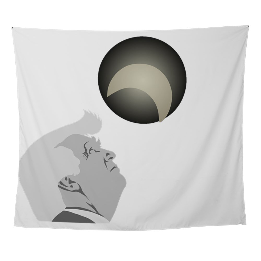CafePress - Trump And The Solar Eclipse - Wall Tapestry