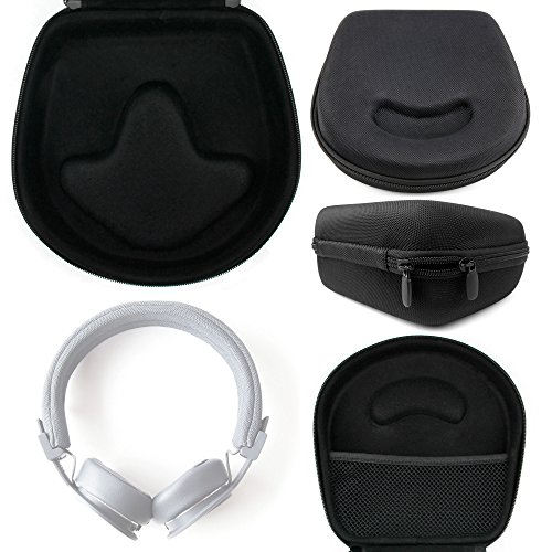 DURAGADGET Hard 'Shell' EVA Headphone Case (Black) Compatible with the Plattan ADV Over Ear Headphones - with Internal Netted Accessories Pocket by DURAGADGET