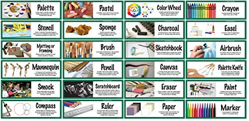 - Crystal Productions CP1845 Art Display Cards-Drawing/Painting Tools,Grade