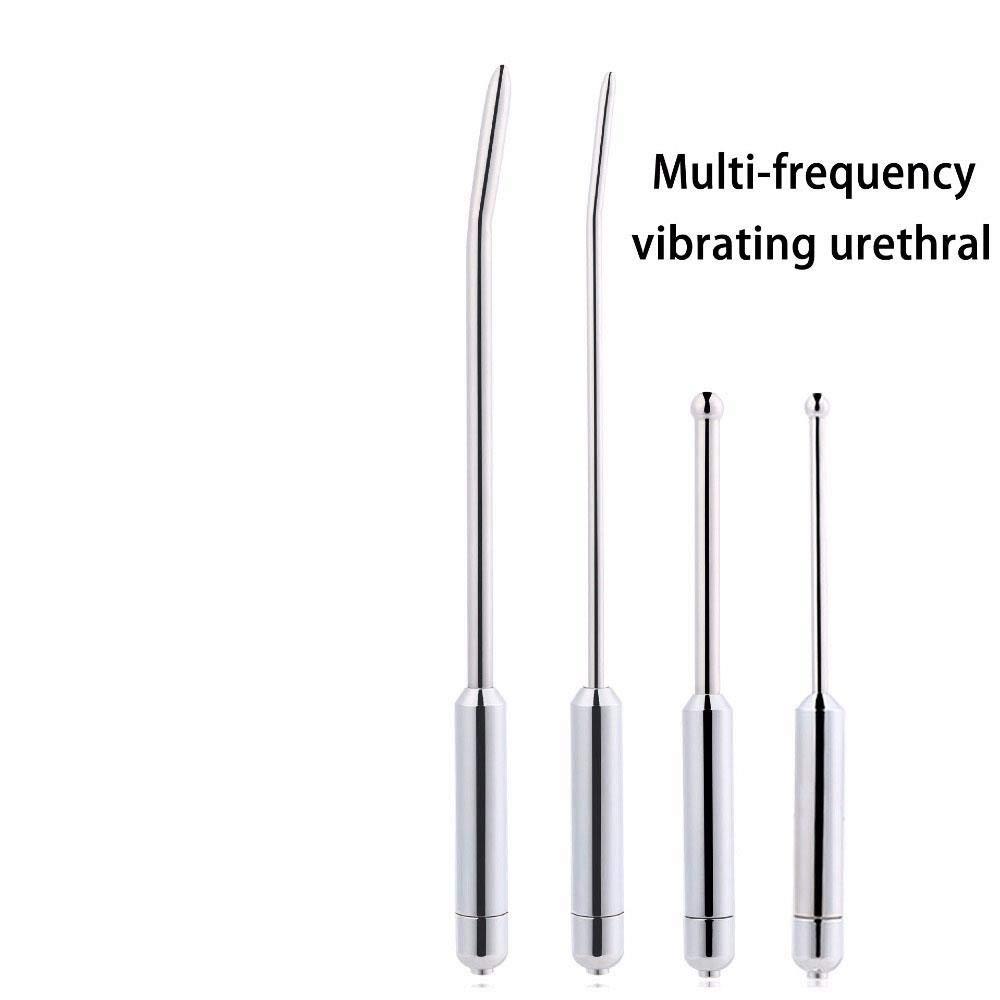 Barette Male Sounding Urethral Sound Penis Plug Vibrator Urethra Plug Dilator Stimulator Sex Toys for Men Dick Stainless Steel Rods,DB-094-6mm