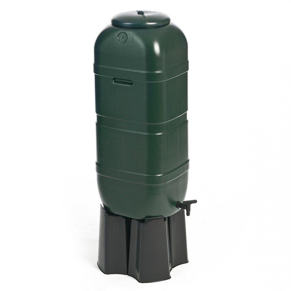 Kreher Regentonne Wassertonne 100 Liter In Grun Mit Stand Fullautomat Und Wasserhahn Optimal