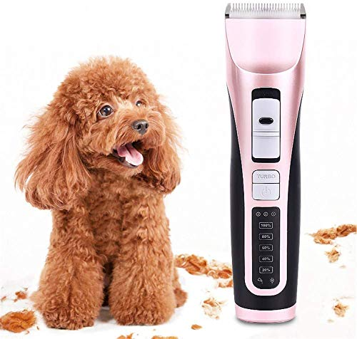DLLY Pet Dog Professional Hair Grooming Clipper Electric Pet Hair Trimmer Rechargeable Low-Noise Grooming Pets Máquina…