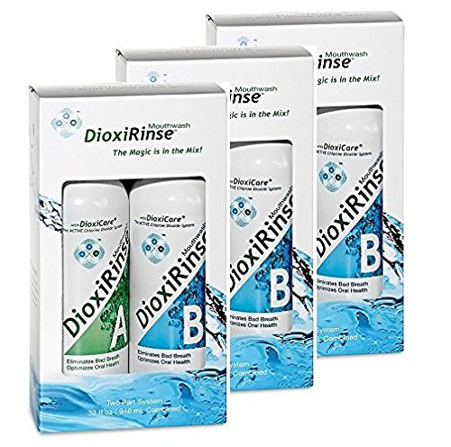 (Sensitive Dental Care: DioxiRinse Anti-Microbial Mouthrinse 32 Oz. Tri-Pack, New Boxed Design!)