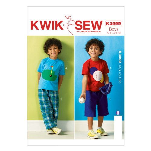 KWIK-SEW PATTERNS K3999OSZ Boys' Top Shorts and Pants Sewing Template, All Sizes by KWIK-SEW PATTERNS