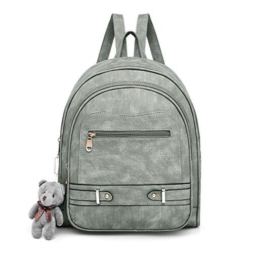 Deerword Women Handbags Backpack Shoulder Bags School Bags And Shoppers Leather Shoulder Bags Green Pu
