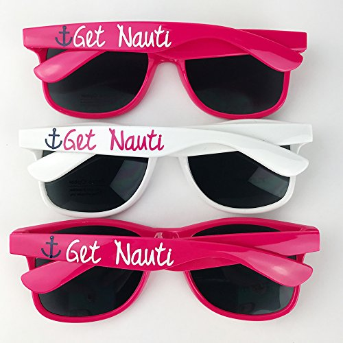 Get Nauti Custom Bachelorette Party - Favors Custom Sunglasses Wedding