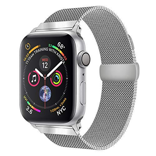 Compatible Apple Watch Band, Milanese Loop Replacement Magnetic Mesh Strap Bracelet Band for iWatch Series 1, 2, 3 Sliver 42mm