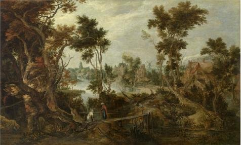 The High Quality Polyster Canvas Of Oil Painting 'Gillis Claesz. De Hondecoeter - Landscape With Elijah And The Widow Of Sarepta' ,size: 8x13 Inch / 20x34 Cm ,this Vivid Art Decorative Prints On Canvas Is Fit For Foyer Artwork And Home Artwork And Gifts (Fit Popcorn Real Butter compare prices)