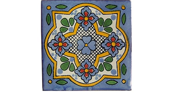 4.2x4.2 9 pcs Sassari Talavera Mexican Tile