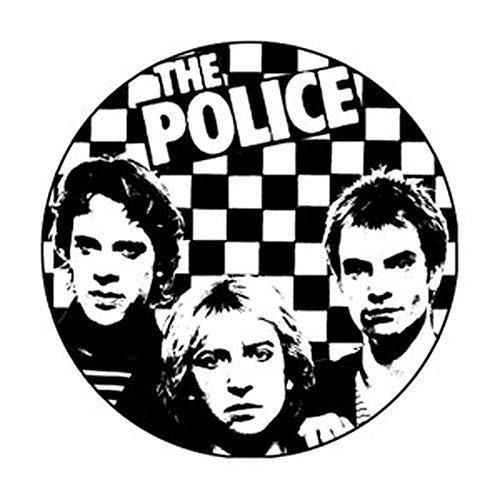 The Police - Checkered Photo - Pinback Button (Photo Pinback Button)