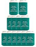 Personalized Coolie Pack Custom Text Quote Gifts 12-pack Custom Coolie Drink Coolers Coolies Teal