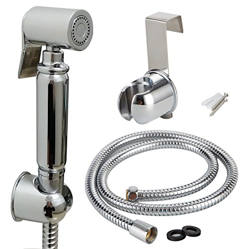 AWESON Premium Brass Cloth Diaper Sprayer Toilet Sprayer Kit, Handheld Bidet Sprayer, Hand Held Bidet Shattaf, 1.2m /48 Inch Stainless Steel Hose, Brass Bracket (WITHOUT T-VALVE) chic