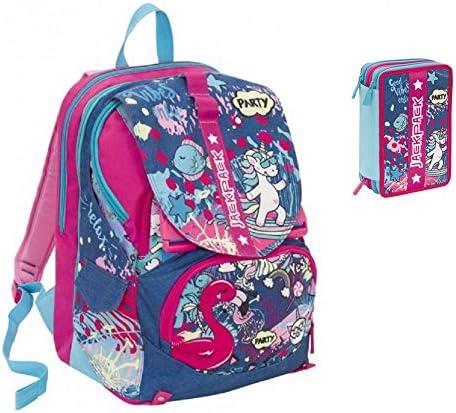 Mochila Multifuncional Jackpack Girl, 32 l, 2 en 1 Desmontable y portátil. Scuola & Tempo Libero+ - Estuche con 3 Cremalleras: Amazon.es: Equipaje