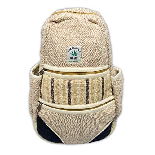 - Zen Canyon Small Natural Hemp Herringbone Sling Bag Backpack Daypack, 15 x 9 Inches