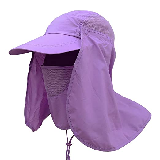 15542ca6c90 Weixinbuy Outdoor Hiking Fishing Hat Protection Cover Neck Face Flap Sun Cap  for Men Women at Amazon Men s Clothing store