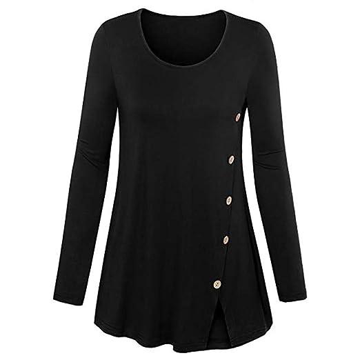Beladla Camisas Mujer Manga Larga Enrejado Labor De Retazos Blusa Casual Suelto Pullover Tops OtoñO Invierno Ropa Shirt Blusa Camisas Moda Mujers Fiesta: ...