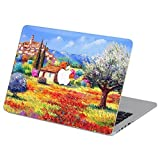 Customized Famous Painting Series Beautiful Village Landscape Special Design Water Resistant Hard Case for Macbook Pro 13'' with Retina Display (Model A1425/a1502)