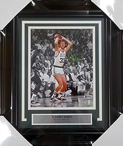 Larry Bird Autographed Signed Framed 8x10 Photo Boston Celtics - Beckett COA