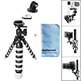 Fantaseal DSLR Camera + Action Cam Mini Tripod 2-in-1 Flexible Stand Tripod for GoPro Sony Garmin...