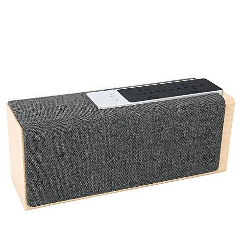 Lecxin Vintage houten luidspreker, Bluetooth stereo luidspreker, voor reizen binnen en buiten (hout)