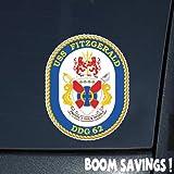 """US Navy USS Fitzgerald DDG62 6"""" Decal Sticker"""