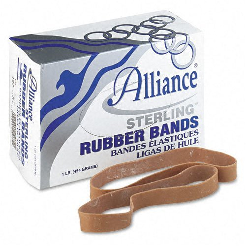 (Alliance : Sterling Ergonomically Correct Rubber Bands, #107, 5/8 x 7, 50 per 1lb Box -:- Sold as 2 Packs of - 1 - / - Total of 2)