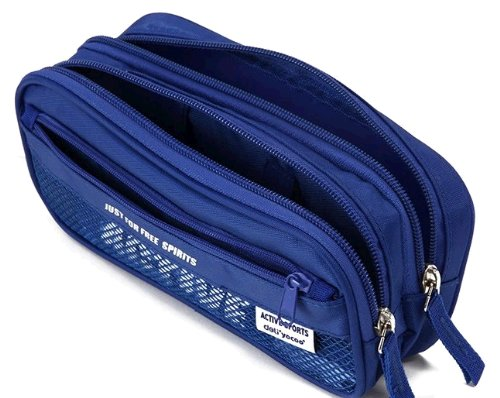 Large capacity stationery pen Bag Color Blue for student, Bu