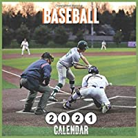 Image for Baseball 2021 calendar: Monthly Square Wall Calendar 18 Months
