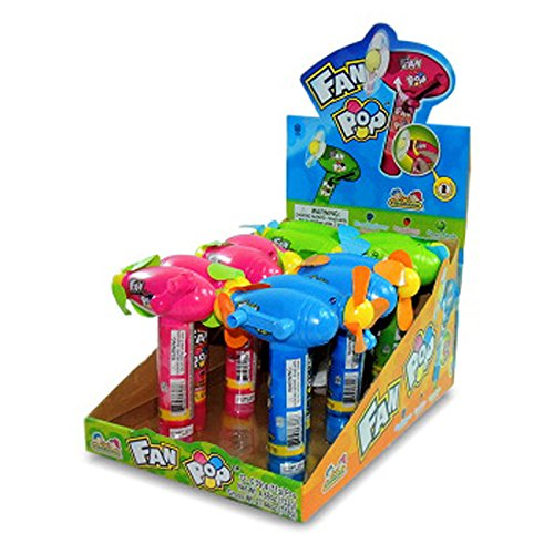 Price comparison product image Kidsmania Fan Pop With Candy 0.39 Oz Each (12 In A Pack) No Battery Needed