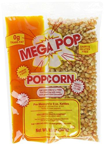 (Gold Medal Products Co 24Ct  Coconut Oil Kit 2838 Popcorn (10.6oz of kernels; pre-measured for 8oz)
