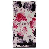 Sony T2 case, Style Hybrid Fancy Colorful Pattern Slim Fit Soft Flexible Extremely Thin Gel TPU Case For Sony Xperia T2 Ultra D5303 D5306 / Ultra dual D5322 (Rose)