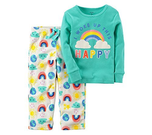 Carter's Baby Girls' 12M-14 2 Piece Rainbow Cotton Pajamas 18 Months