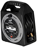 SMJ Electrical CT1513 Cable Reel 13 A 4 Socket with Thermal Cutout of 15 m, Meter