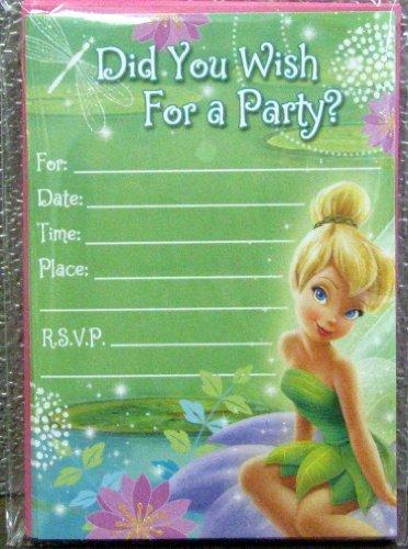 Hallmark Invitations INH4185 Tinkerbell Birthday Party Invitations]()