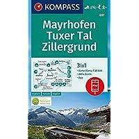 KOMPASS Wanderkarte Mayrhofen, Tuxer Tal, Zillergrund: 3in1 Wanderkarte 1:25000 mit Aktiv Guide inklusive Karte zur offline Verwendung in der ... Langlaufen. (KOMPASS-Wanderkarten, Band 37)