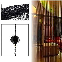 Imitation Crystal Beaded Tassel String Curtain Door Window Home Decor Divider 1 x 2M Black