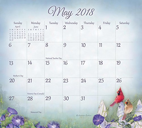 Legacy Publishing Group 2018 Magnetic Calendar Pad, Songbirds