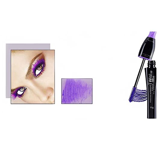 8ef16074280 Amazon.com : Waterproof Color Mascara, Professional Mascara, Blue Purple  Black Green Brown Mascara Charming Longlasting Makeup for Eye  Makeup(Purple) : ...