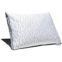 Coop Home Goods - THE EDEN PILLOW - Ultra Tech Cover with Gusset - ADJUSTABLE Fill features cooling and hypoallergenic gel and diamond dust infused memory foam with fiber fill - MADE IN USA - KING
