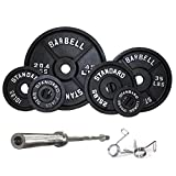 Serious Steel Fitness Troy Barbell Black Olympic Weight Set, 300lbs | BOSS300 For Sale