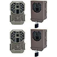 Stealth Cam G34 Pro 12MP Video 80 Scouting Game Camera, 2 Pack + Security Case