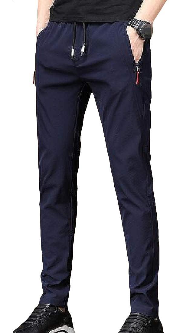 Etecredpow Mens Casual Elastic Waist Straight Leg Active Pants Sweatpants