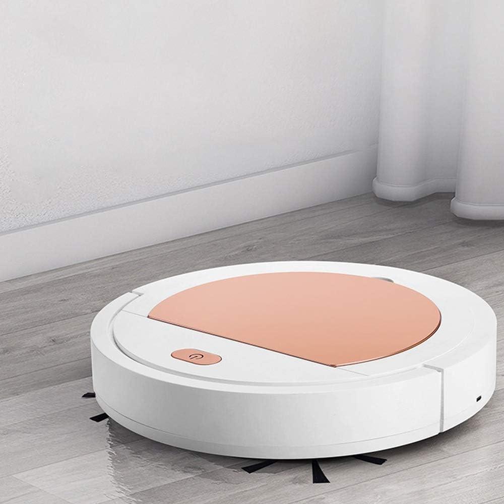 BFFDD Mini aspirateur intelligent Sweeper USB Nettoyage rechargeable Balayer Robot de ménage sans fil Vacum Aspirateur (Color : White) White Gold
