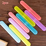 AOAOTURER 2PCS 20Cm3Cm Cute Practical Portable Smiling Solid Candy Colors Toothbrush Case