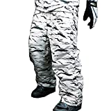 snowboard pants camo - myglory77mall Mens Winter Warm Waterproof Hip Ski Snowboard Military Camo Pants S07 US 2XL