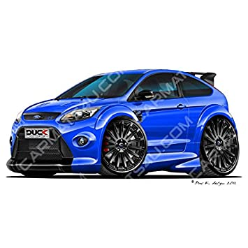Carmats4u Ford Focus Mk2 Rs Bk Vinyl Wall Art Sticker Blue