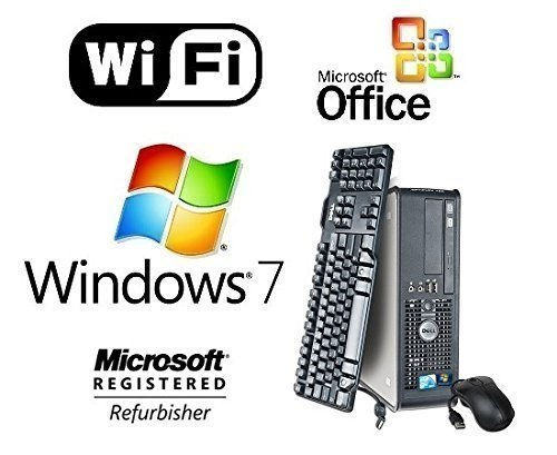 DELL DUAL CORE 2 DUO 3.0GHz FAST 8GB DESKTOP PC 1TB WINDOWS 7 PRO WIFI DESKTOP + MS OFFICE