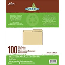 Hilroy Enviro-plus Recycled File Folders, Letter Size, 100/box, Sand (55074)